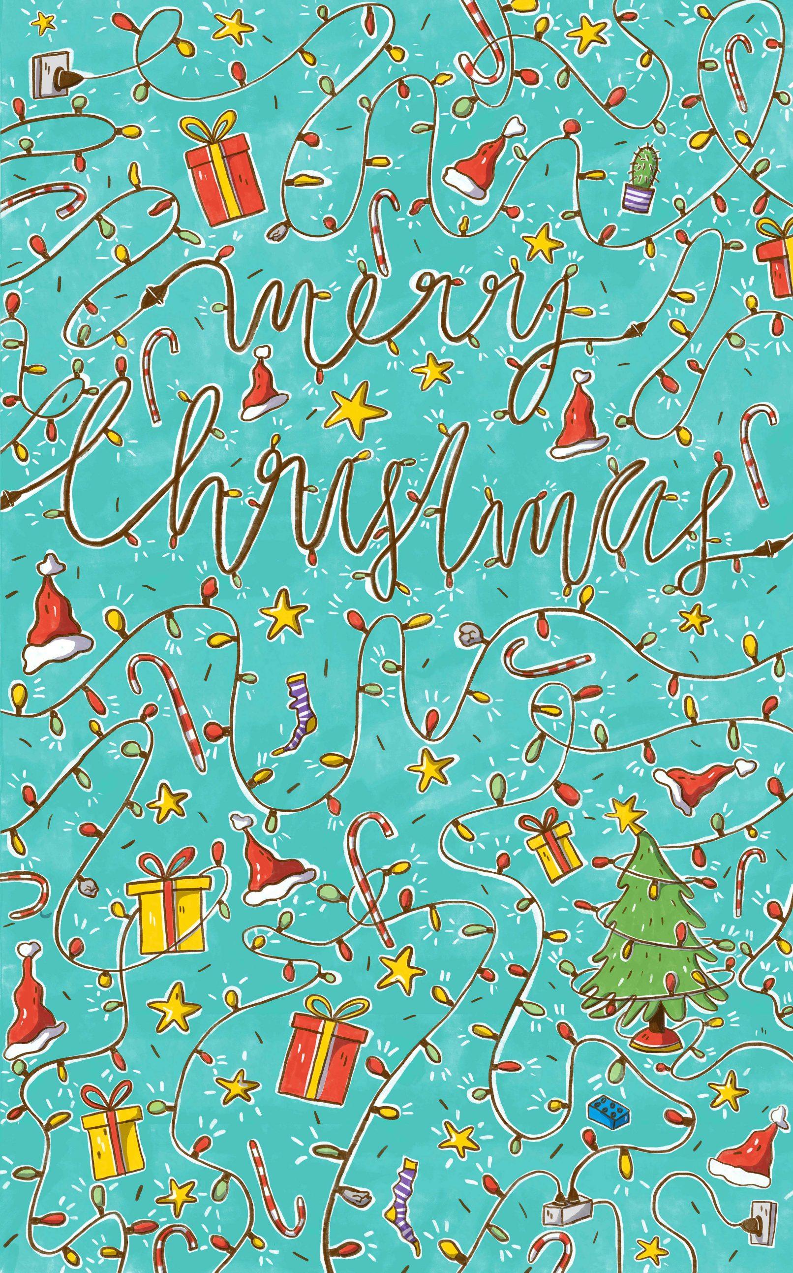 Geschenkpapier Weihnachten.Geschenkpapier Weihnachten Caroline Opheys Kinderbuchillustration